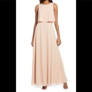 Lulu's Blush Sleeveless Maxi Dress